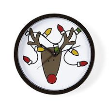 Holiday Reindeer Wall Clock