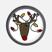 Holiday Reindeer Wall Clock