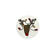 Holiday Reindeer Mini Button
