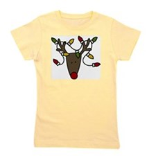 Holiday Reindeer Girl's Tee