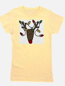 Holiday Reindeer Girl's Tee