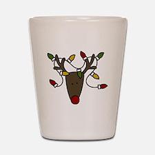 Holiday Reindeer Shot Glass