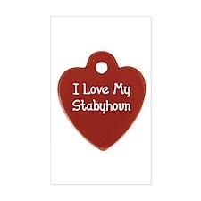 Love My Stabyhoun Rectangle Decal