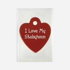 Love My Stabyhoun Rectangle Magnet (100 pack)