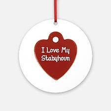 Love My Stabyhoun Ornament (Round)