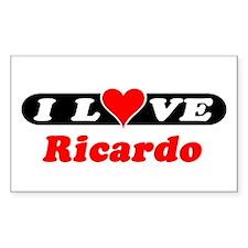 I Love Ricardo Rectangle Decal