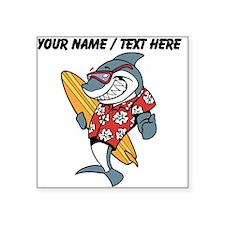 Custom Shark Surfer Sticker