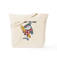 Custom Shark Surfer Tote Bag