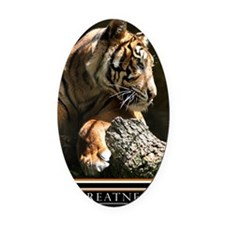 Greatness Motivational Poster 23x3 Oval Car Magnet