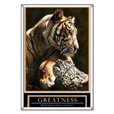 Greatness Motivational Poster 23x35 Banner