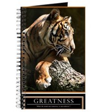 Greatness Motivational Poster 23x35 Journal