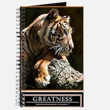 Greatness Motivational Poster 23x35 Journal