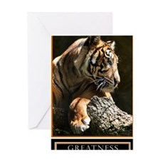 Greatness Motivational Poster 23x35 Greeting Card