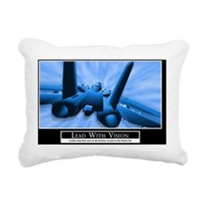 35x23 Lead With Vision M Rectangular Canvas Pillow