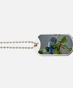 Bluebird and Holly Dog Tags
