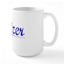 Spitzer, Blue, Aged Mug