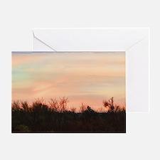 rainbow pastel morning Greeting Card