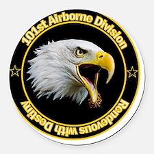 101st Airborne Round Car Magnet
