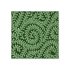 "green swirl Square Sticker 3"" x 3"""