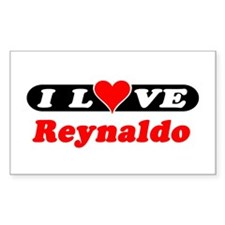 I Love Reynaldo Rectangle Decal