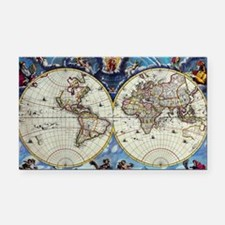 Antique World Map Rectangle Car Magnet