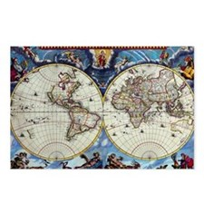 Antique World Map Postcards (Package of 8)