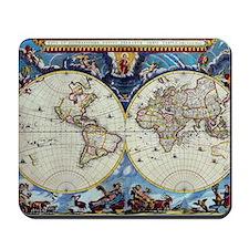 Antique World Map Mousepad