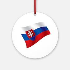 Slovakia Flag Ornament (Round)