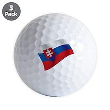 Slovakia Flag Golf Ball