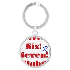 Numbers Spelled Out Round Keychain