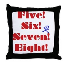 Numbers Spelled Out Throw Pillow