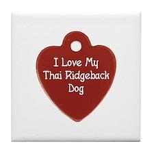 Love My Ridgeback Tile Coaster