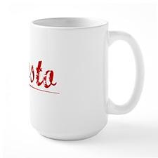 Agosto, Vintage Red Mug