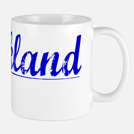 Strickland, Blue, Aged Mug