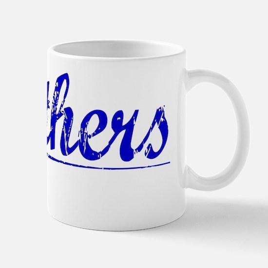 Struthers, Blue, Aged Mug