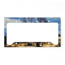 winter tree License Plate Holder