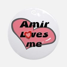 amir loves me  Ornament (Round)