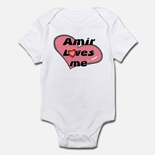 amir loves me  Infant Bodysuit