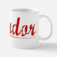 Amador, Vintage Red Mug