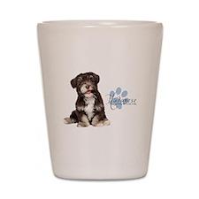 Havanese Puppy Shot Glass