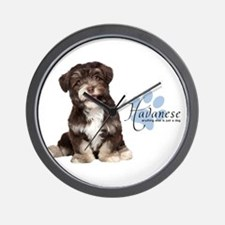 Havanese Puppy Wall Clock
