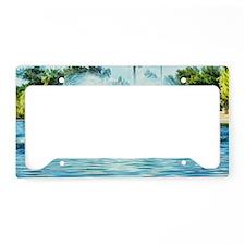 water fan License Plate Holder