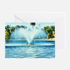 water fan Greeting Card