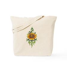 Tribal Peace Sun Flower Tote Bag