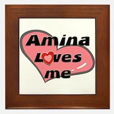 amina loves me  Framed Tile