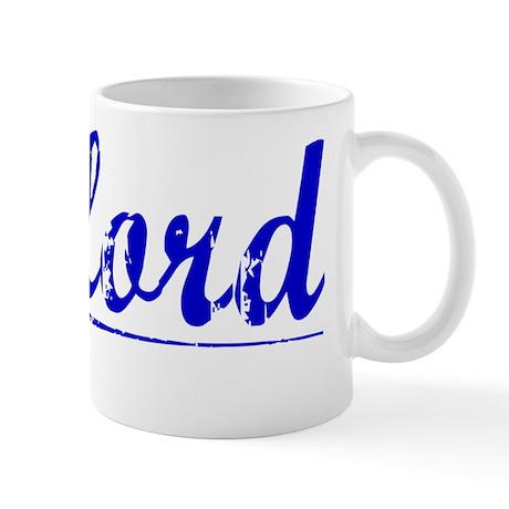 Telford, Blue, Aged Mug