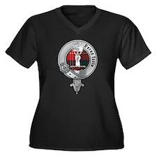 Clan Chisholm Women's Plus Size V-Neck Dark T-Shir