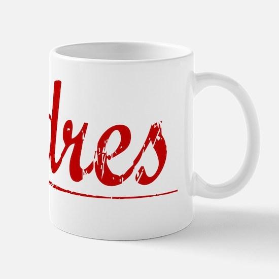 Andres, Vintage Red Mug