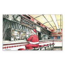 Santa at the Bound Brook Diner Decal