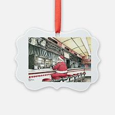 Santa at the Bound Brook Diner, B Ornament